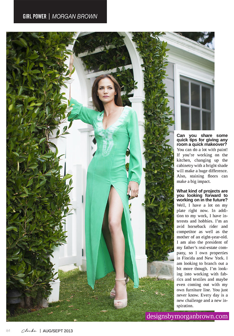 Cliche Magazine Today S Superwoman By Kelly Ginart Designs By Morgan Brown
